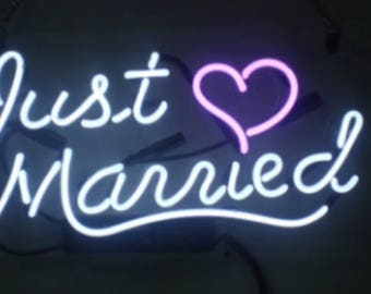 Just Married neon tube sign 11x7