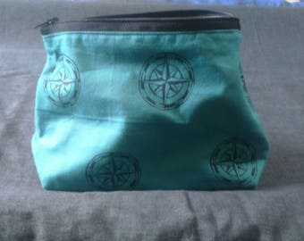 compass pouch / fully lined / nautical vibes / wanderlust / travel
