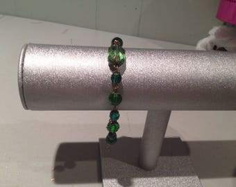 Green Emerald Antique Gold Bracelet