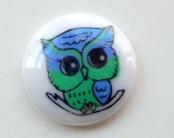 Free shipping: 3 Owl buttons