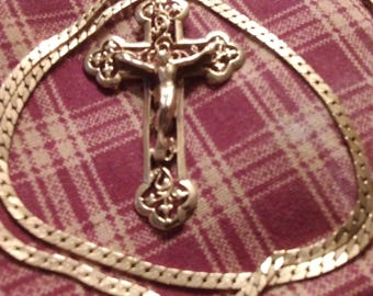 14k Gold Crucifix Cross Necklace
