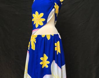 2 piece batik dress plumeria