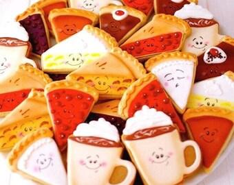 12 Pie and Coffee Sugar Cookies