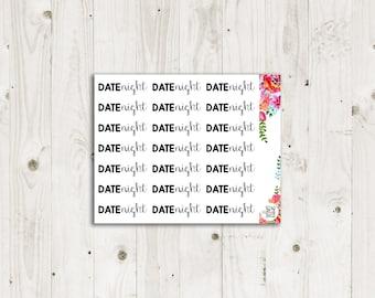 Date Night Script Stickers - ECLP, Happy Planner, TN Planner Stickers