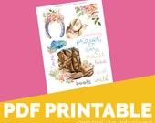 CowBoy Printable, Digital Bible Journaling, Margin Stickers, Bookmarks, Sticker Printable