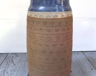 Vintage Freeburg Incised Studio Pottery Vase