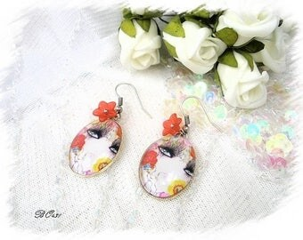 Vintage face earrings * BO431