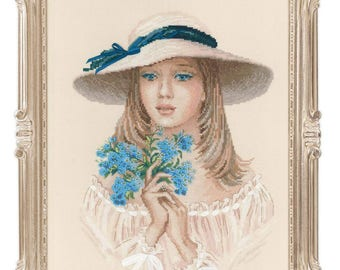 Forget Me Not - Cross Stitch Kit from RIOLIS Ref. no.:100/045