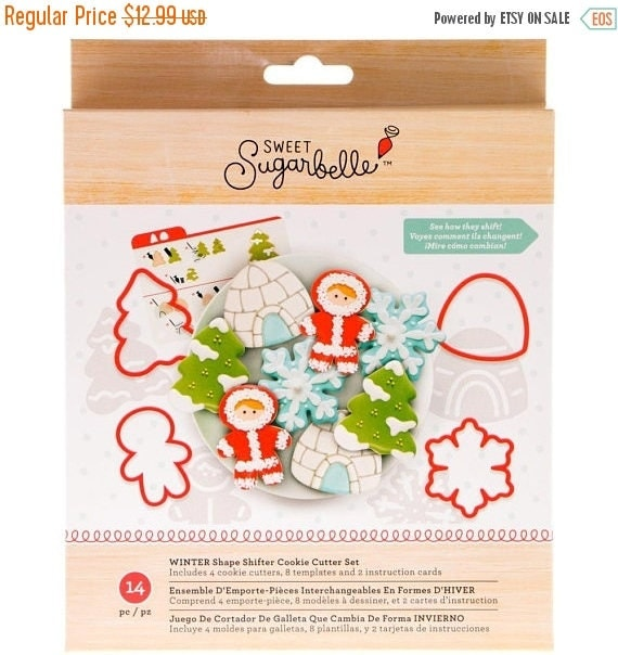 Save 20% off Shape shifters winter cookie cutters fun is for the whole family you can bake snowflakes, eskimos, christmas trees, gum drops a