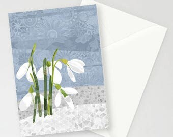 Snowdrops A6 Greetings Card