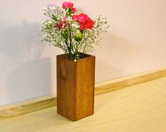 Quartersawn sycamore vase