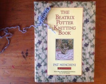 Beatrix Potter Knitting Book, 50 Delightful Handknits for All the Family, Hardcover, Dust Jacket, 1988, UK Book, Sweet Patterns Color Photos