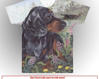 Dachshund T-Shirt All Over Dapple Doxie Wiener Dog Shirt Puppy Dreamer Apparel