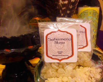 Sahumerio Maya: 100% Pure Mayan/Aztek Copal Resin for Protection, Purification and Cleansing.