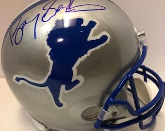 Barry Sanders AUTOGRAPHED Detroit Lions Helmet w/JSA