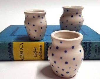 Mini Vases with Dots