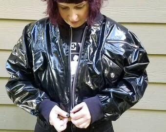 Insane Cropped Patent Leather Jacket