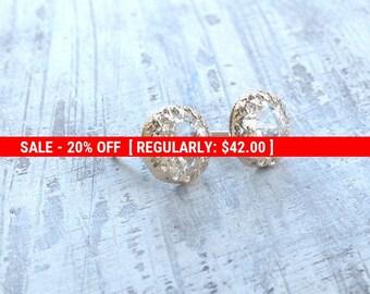 SALE 20% OFF Gold earrings, crystal stud earrings, stud earrings, classic earrings, wedding earrings, Goldfilled earrings - 6100