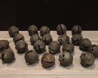 22 Antique Sleigh Bells - 1800s Petal Shaped Sleigh Bells