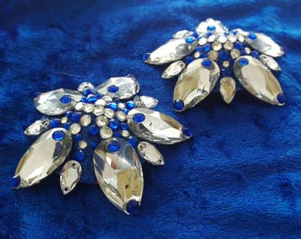 Sparkly blue and silver burlesque pasties