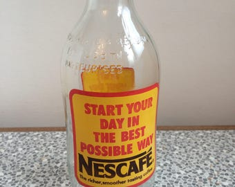 Vintage Unigate milk bottle Nescafe