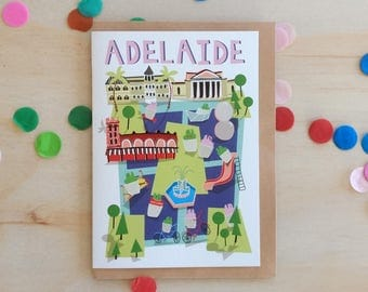 Greeting Card - Adelaide