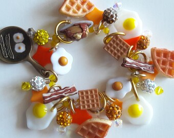 Breakfast bracelet/Diner/Beadiebracelet