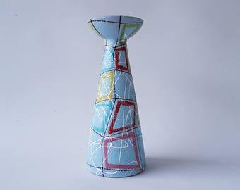 Large Fratelli Fanciullacci Italian multi colored vase