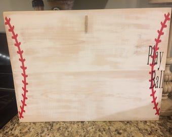 Distressed baseball frame