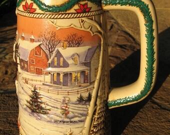 "Budweiser 1996 ""American Homestead"" Holiday Stein (CS273)"