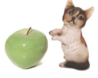 Calico Cat Statue, Calico Kitten, Cat  Figurine, Sandicast Cat Sculpture, Cat lover