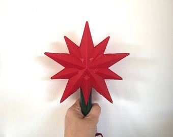 Vintage Christmas Tree Topper - Lighted Star of Bethlehem Christmas Tree Toppers - Christmas Tree Star Topper - Christmas Tree Star Light