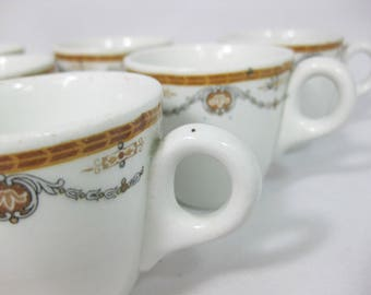 Grindley Hotel Ware Demitasse Mugs, Espresso Mugs, Hotel Ware Espresso Cups, set of 8