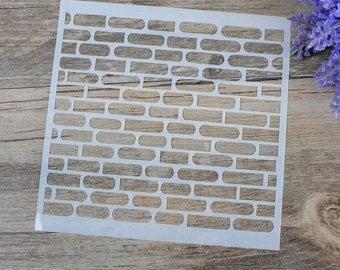 5x5 Brick Wall Stencil