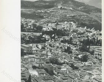 Morocco city aerial view vintage photo
