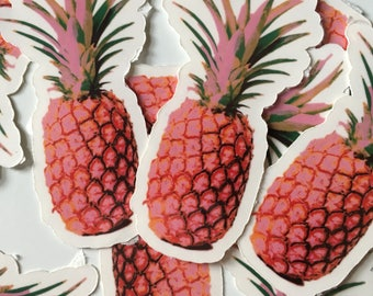 Pink Pineapple Temporary Tattoo