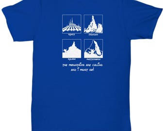 Disney Mountains Calling Rides Shirts Gift Disneyland Shirt Space Splash