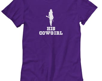 His Cowgirl Shirt Gift for Wife Girlfriend Couples His Hers Horse Riding Rider Shirts
