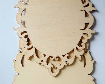 Two Wood Ornate Frames