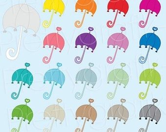 80% OFF SALE 19 umbrella clipart commercial use, vector graphics, digital clip art, digital images  - CL496