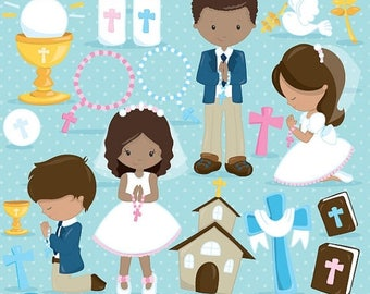 80% OFF SALE First communion clipart commercial use, christian clipart, bible vector graphics, digital  - CL836
