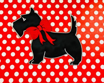 Scottie Dog Iron On Patch Appliqué Scottish Terrier