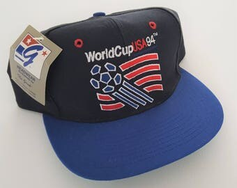 Vintage World Cup '94 USA The Game Deadstock Snapback Hat VTG