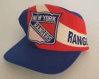 Vintage New York Rangers Twins Snapback Hat NHL VTG