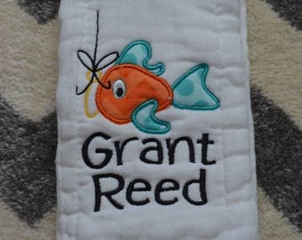 Personalized Monogrammed Burp Cloth