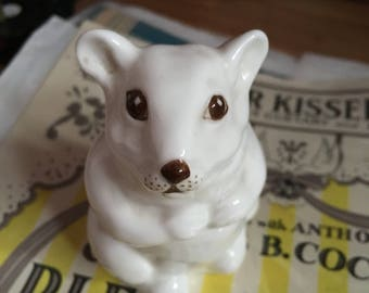Coalport bone china white hamster figure
