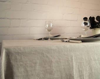 Linen Tablecloth, Pure linen tablecloth, Rustic tablecloth, Wedding tablecloth, Natural Linen