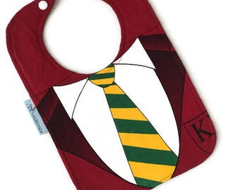 Tie Bib • Baby Shower Gift • Harry Potter Baby • Upcycled Tshirt Bib