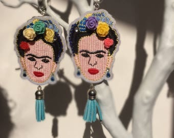 Handmade Frida Kahlo Statement earrings