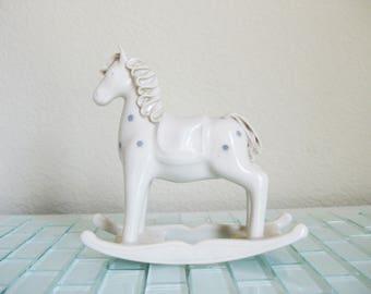 Appaloosa Rocking Horse Porcelain Figurine Hill Design